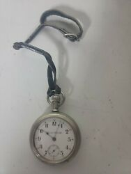 Hamilton Railroad Grade Antique Pocket Watches With Strap Working Running