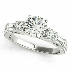 1.67 Ct Real Diamond Wedding Ring Solid 950 Platinum Rings For Ladies Size 5 6 7