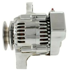 Chrome Mini Alternator Self Excited 1-wire For Chevy Hot Rod Street Rod Sbc Bbc