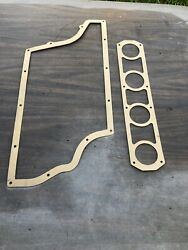 Plenum Gasket With 2 1/4 Carb Combo Pack Autolite Cross Boss Intake Manifolds