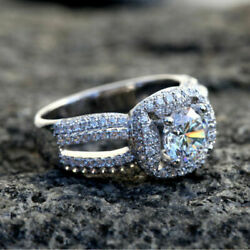 1.40 Ct Natural Diamond Wedding Rings For Women Solid 950 Platinum Size 7 8 9