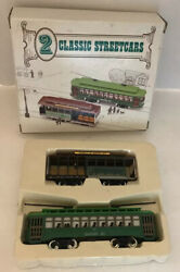 2 Classic Streetcars Trolleys Powell And Mason Sts Desire St Ho Scale Model Trains
