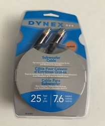 Dynex.audio Subwoofer Cable..25 Feet..new In Pack..9e07h..check Pictures