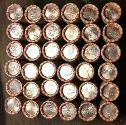 50 2001-d Lincoln Memorial Cent Penny Rolls Of 50 Coins Uncirculated