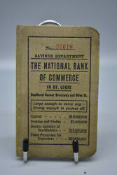 Vintage The National Bank Of Commerce St Louis Savings Book Entries 1919-1932