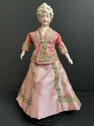 Antique/vintage Cabinet Size Parian Head China Lady Doll