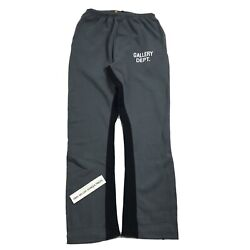 Gallery Dept. Washed Black Flared Sweat Pants Size Xl