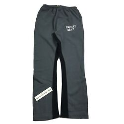 Gallery Dept. Washed Black Flared Sweat Pants Size S