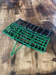 1/64 Custom Green 36 Ft Soil Finisher With Rolling Basket Farm Toy