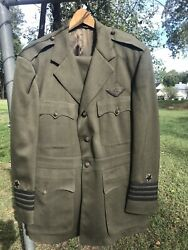 Vintage Us Naval Aviator Wing Officers Uniform With Bullion Wings