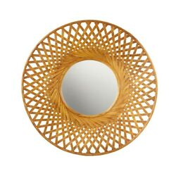 Madison Park Round Bamboo Wall Decor With Natural Finish Mp95b-0258