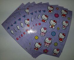 Sandylion Vintage HELLO KITTY Stickers lot of 5 SHEETS size 4quot; X 6 *****