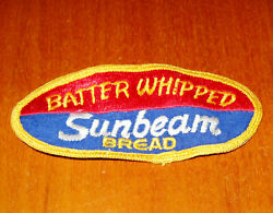 Vintage Sunbeam Bread Patch Batter Whipped Bakery Food Business Advertising
