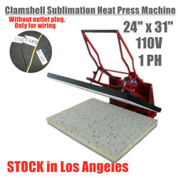 Us Stock 24 X 31 Clamshell Sublimation Heat Press Machine For T-shirts / Mats