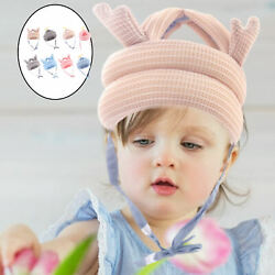 Baby Safety Hat Head Cushion Cotton Child Anti-fall Headguard For Running