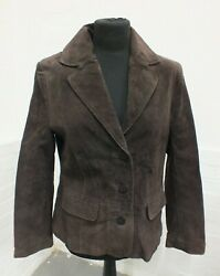 John Lewis Brown Suede Jacket Blazer Size 14 - New With Tags Nee