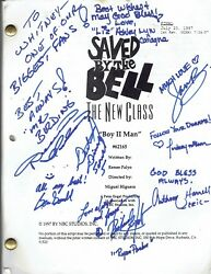 Cast Signed Autographed Saved By The Bell The New Class Script Boys Ii Men