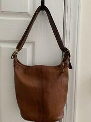 Coach Bucket Duffle Whiskey Leather Shoulder Tote Bag #11422 $149.00