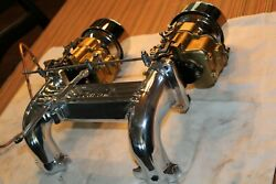 Old Antique Model A Ford Zepher Intake Manifold W/two 94 Carbs