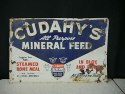 1950's Cudahy's Mineral Feed Embossed Sign