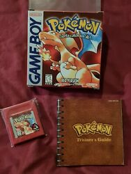 Pokemon Red Version First Print Nintendo Game Boy 1998 Complete In Box. Usa