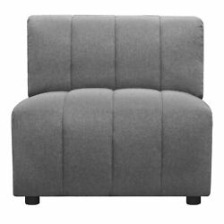Moe's Home Contemporary Lyric Slipper Chair With Grey Finish Mt-1024-15
