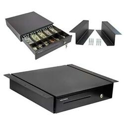 Cash Register Drawer With Under Counter Mounting 16 - 5 Bill 6 Coin Black