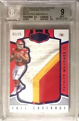 2017 Plates And Patches Patrick Mahomes 5/25 Blue Full Coverage Patch Rc Andnbspbgs 9
