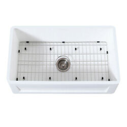 Gourmetier Farmhouse Kitchen Sink With Strainer And Grid Kgkfa301810sq