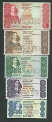 South Africa Set , 2,5,10,20,50 Rand 1980 /1990 Unc