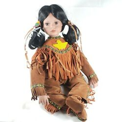 Timeless Collection Porcelain Native American Indian Girl Doll Limited Edition