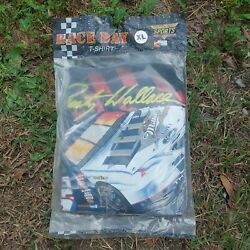 Factory Sealed Nos Vintage 90s Nascar 2 Rusty Wallace Miller Tshirt Xl Usa Made