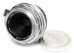 Canon Vintage Lens For Contax Rf 3.5 / 28mm Ct Canon Lens Very Rare