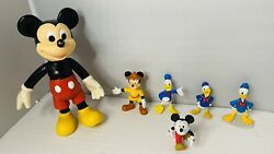 Disney Lot Mickey Mouse And Donald Duck Figures Rare Collectibles