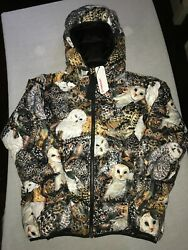 Ovo Owl Puffer Jacket Primaloft Graphic Print Limited Edition Size 2xl Exclusive