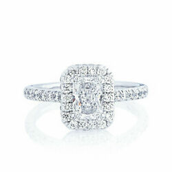 Radiant Coupe 1.25 Ct Vrai Diamant Mariage Bague 950 Platine Taille 5 6 7.5 8