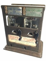 Rare Schermack Products Corp Sanitary Stamp Dispensing Machine 3 Cent And 1 Cent