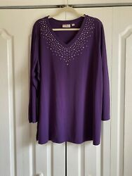 Nwot Gorgeous Casual Elegance Size 2x Quacker Factory Top. Perfect Condition.