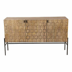 Moe's Home Retro Etch Sideboard With Natural Finish Dd-1009-15