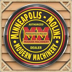 Minneapolis Moline Tractors Sign Remake Square Aluminum Sizes Up To 3' X 3'