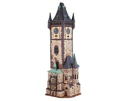 Ceramic Tealight Holder Collectible Miniature Old Town Clock In Prague H45cm