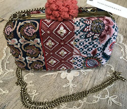 New Anthropologie Tapestry Crossbody / Clutch Purse Retail 78