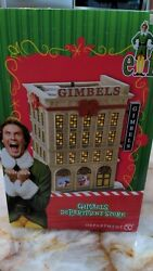 Dept 56 Gimbles Department Store From The Elf Movie Extremely Rare Item