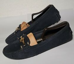 TORY BURCH black loafers size 8 driving moccasins $39.99