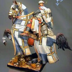 Tin Toy 90 Mm Superb Elite Painting In St.petersburg.knight Templar In Holy Land
