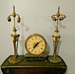 Pair Of Sterling Bronze Company Ny Table Lamps Classical Rams Head And Urn Design