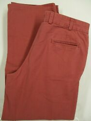Bills Khakis M3 Mens Red Flat Front Cotton Chinos 34x29.5 Usa Made