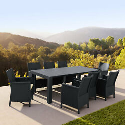 Siesta Extendable Dining Set 9 Piece With Natural Cushion Isp8066s-dg