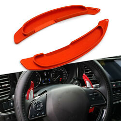 Steering Wheel Paddle Shifter Extension Aluminum For Mitsubishi Lancer Red 2pcs
