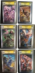 Uncanny X-men 1 All 6 Cgc/ss 9.8 Covers A-f Signed By J. Scott Campbell Vvhtf🔥
